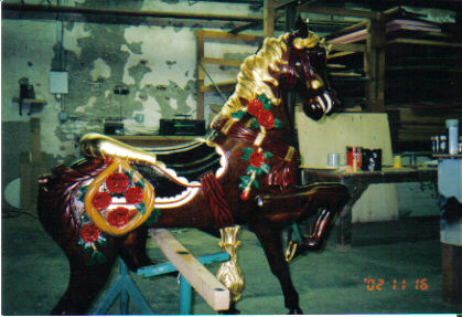 After Gilded Mahogany Horse